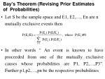 bay s theorem revising prior estimates of probabilities
