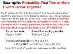 example probability that two or more events occur together