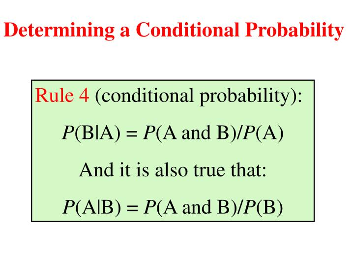 Determining a Conditional Probability