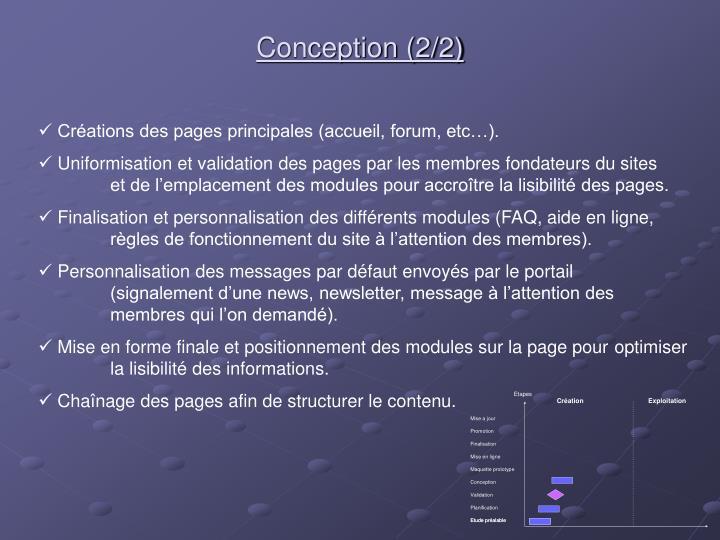 Conception (2/2)