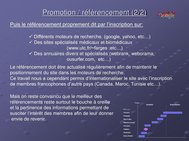 Promotion / référencement (2/2)
