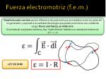 fuerza electromotriz f e m