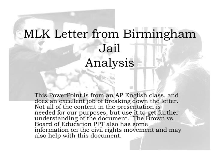 mlk letters from the birmingham jail essay