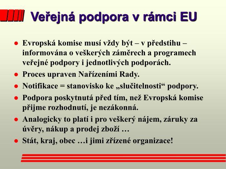 Veřejná podpora v rámci EU