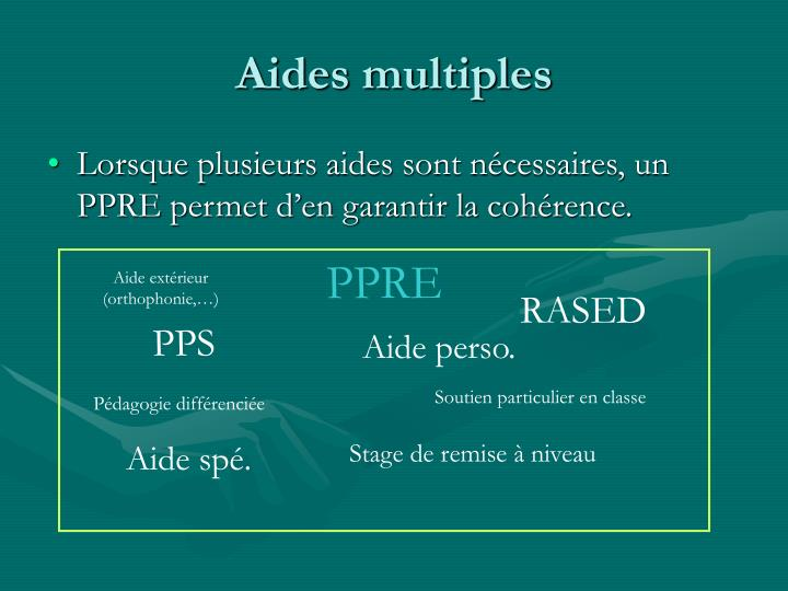 Aides multiples