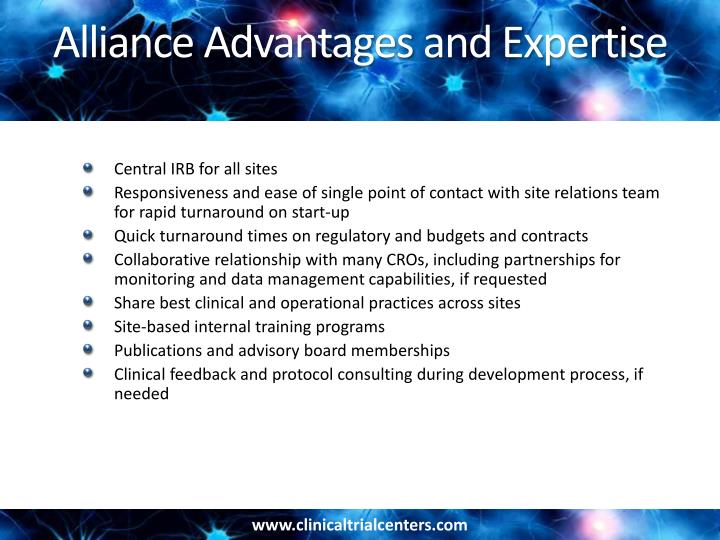 Alliance Advantages and Expertise