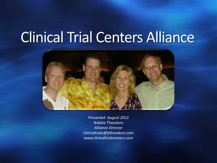 Clinical trial centers alliance