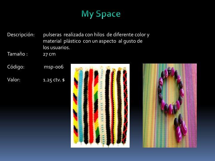 Descripción:        pulseras  realizada con hilos  de diferente color y