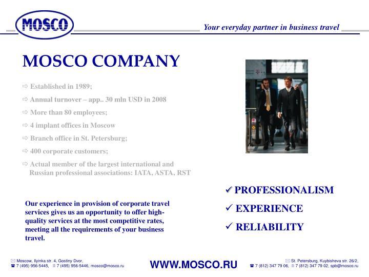 MOSCO COMPANY