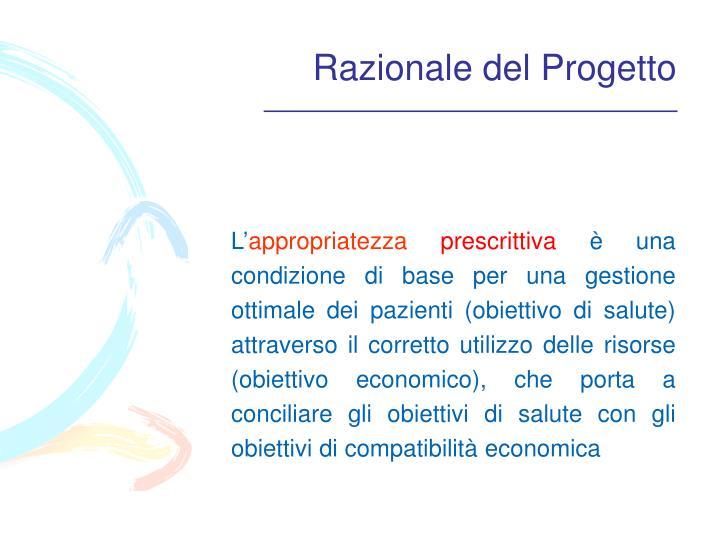 Razionale del Progetto