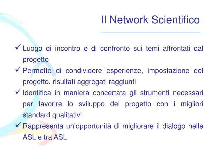 Il Network Scientifico