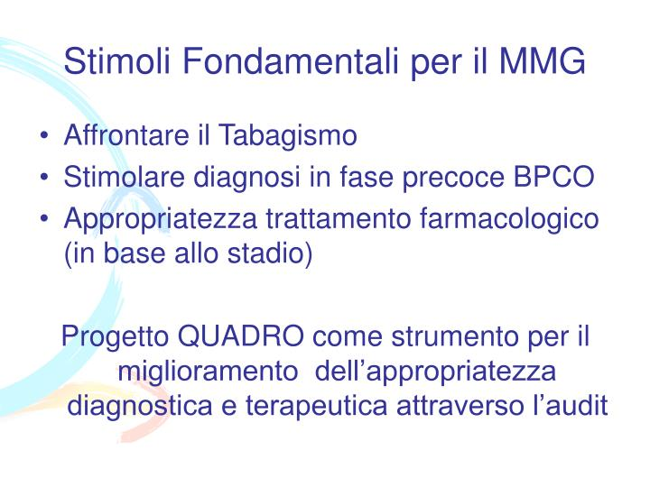 Stimoli Fondamentali per il MMG