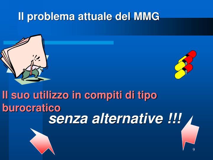 Il problema attuale del MMG