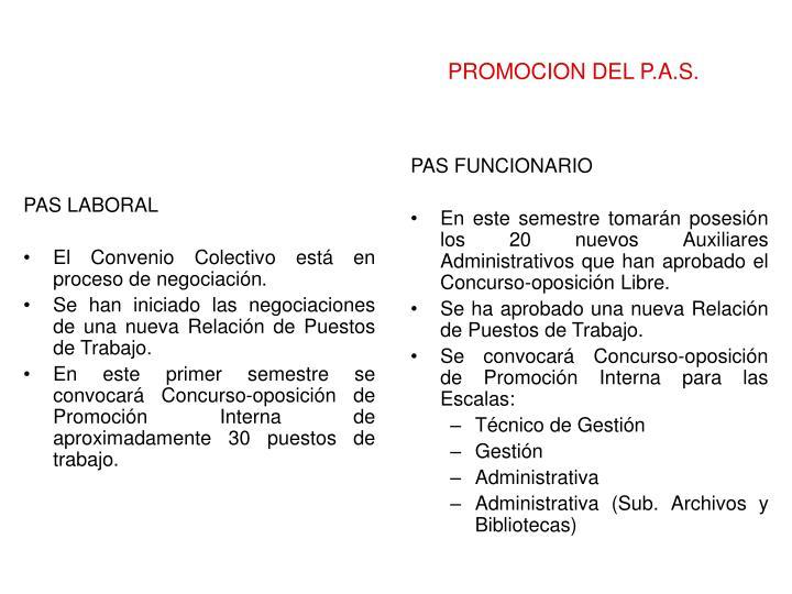 PROMOCION DEL P.A.S.