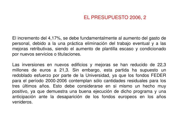 EL PRESUPUESTO 2006, 2