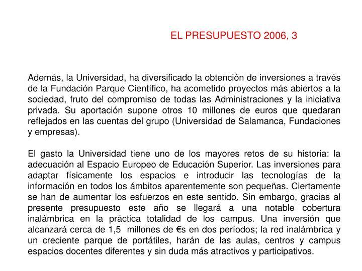 EL PRESUPUESTO 2006, 3