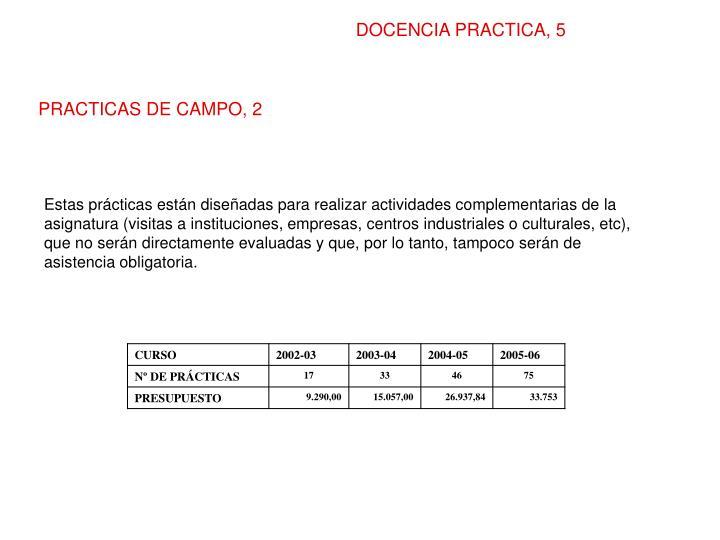 DOCENCIA PRACTICA, 5