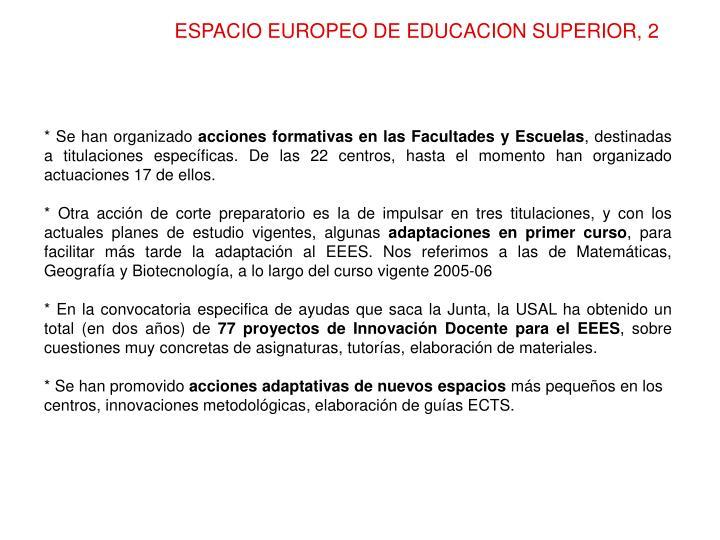 ESPACIO EUROPEO DE EDUCACION SUPERIOR, 2
