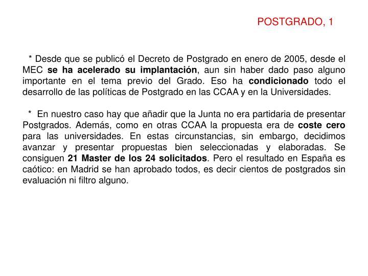 POSTGRADO, 1