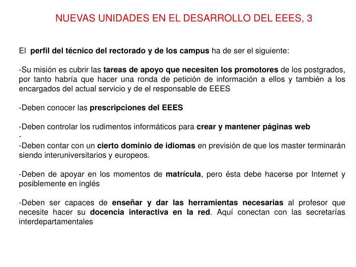 NUEVAS UNIDADES EN EL DESARROLLO DEL EEES, 3