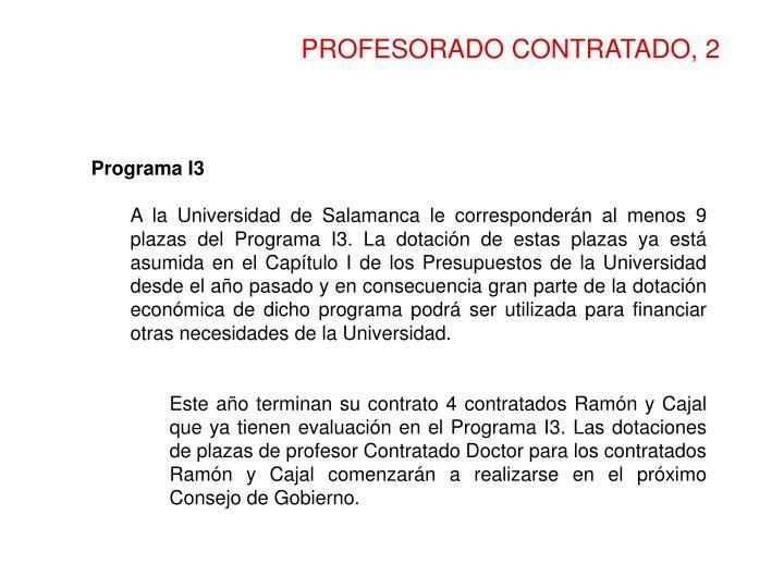 PROFESORADO CONTRATADO, 2