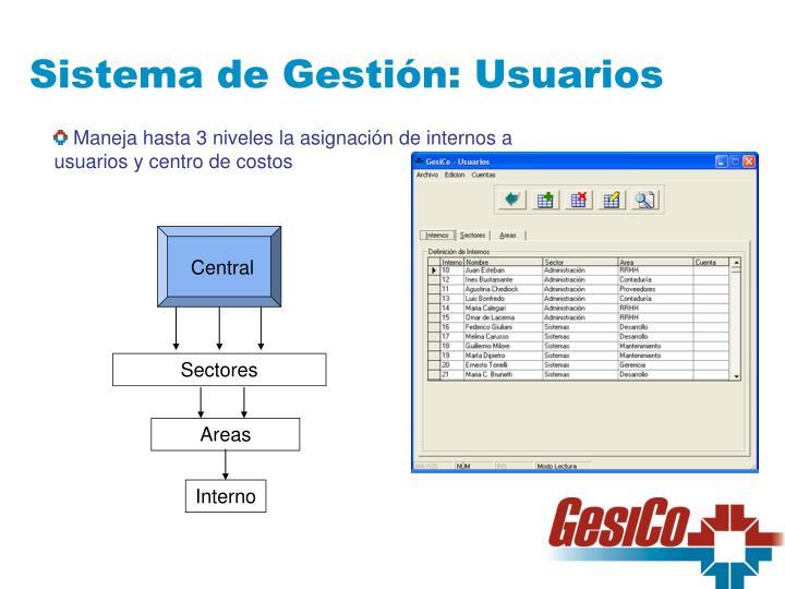 Sistema de Gestión: Usuarios