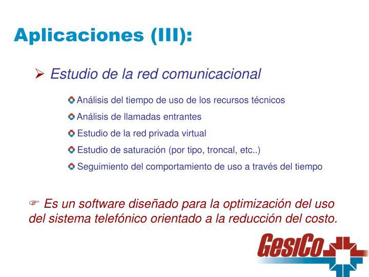 Aplicaciones (III):