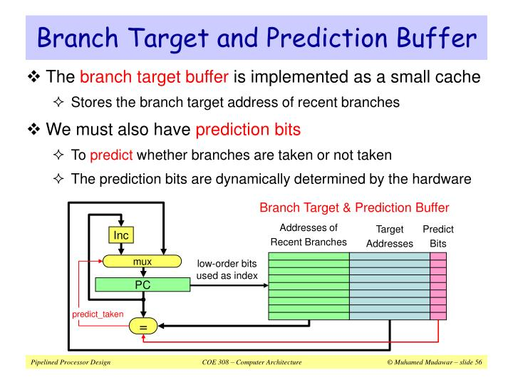 Branch Target & Prediction Buffer