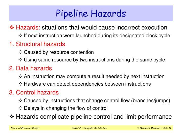 Pipeline Hazards