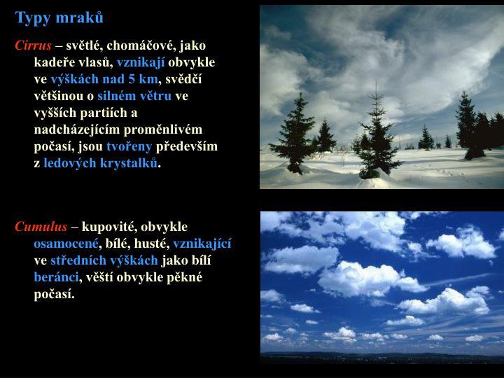 Typy mraků