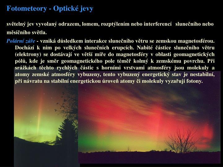 Fotometeory - Optické jevy
