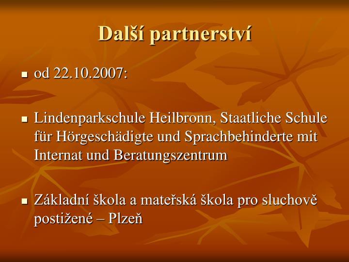 Další partnerství