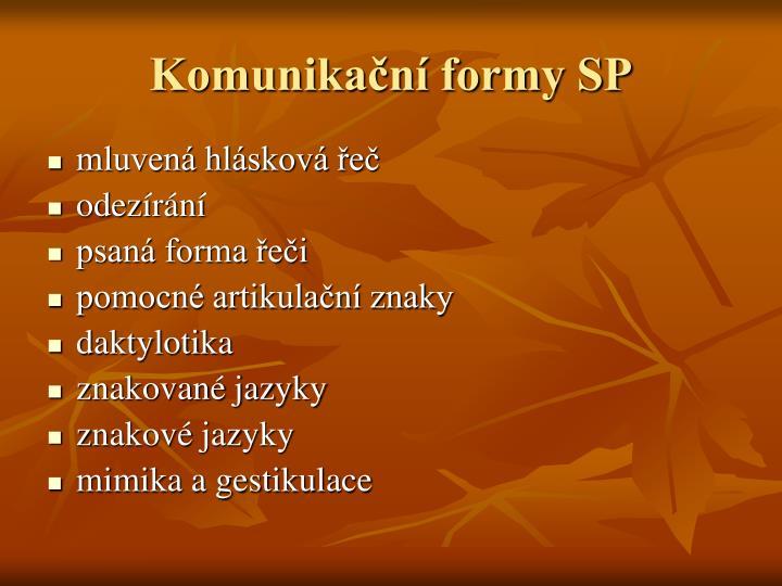 Komunikační formy SP