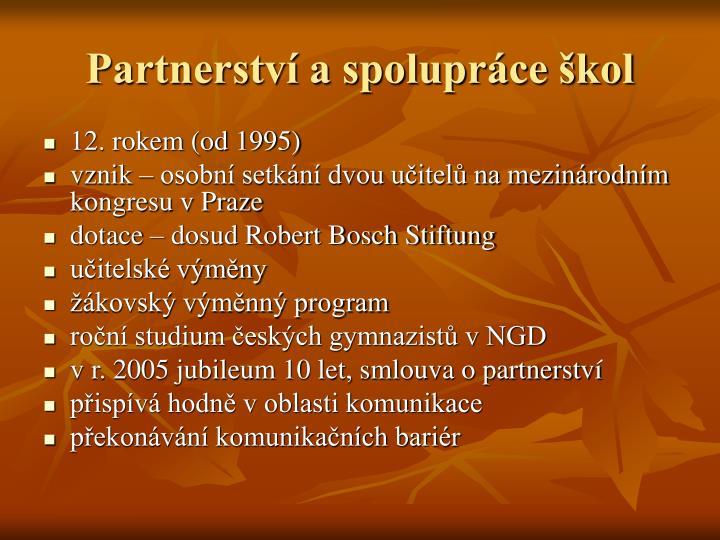 Partnerství a spolupráce škol
