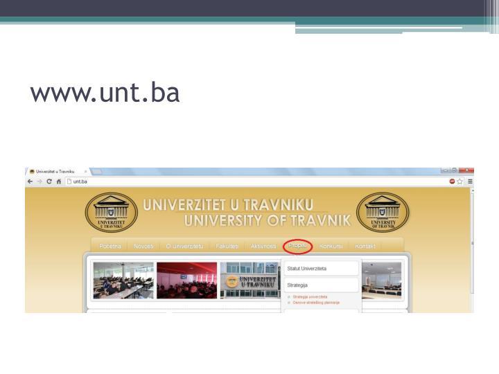 www.unt.ba