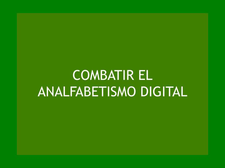 COMBATIR EL