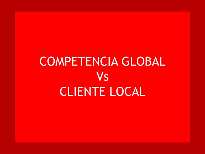 COMPETENCIA GLOBAL
