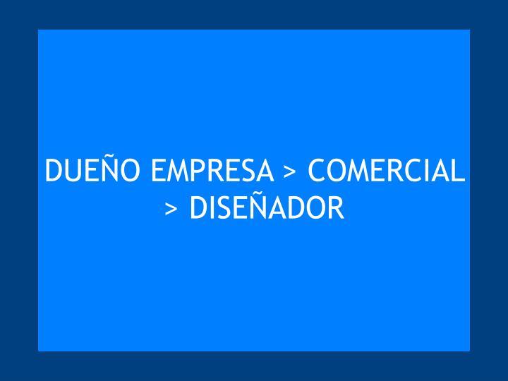 DUEÑO EMPRESA > COMERCIAL > DISEÑADOR