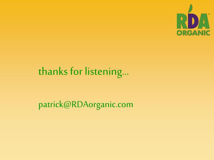 thanks for listening…