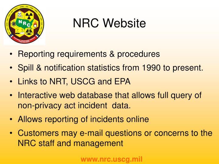 Reporting requirements & procedures