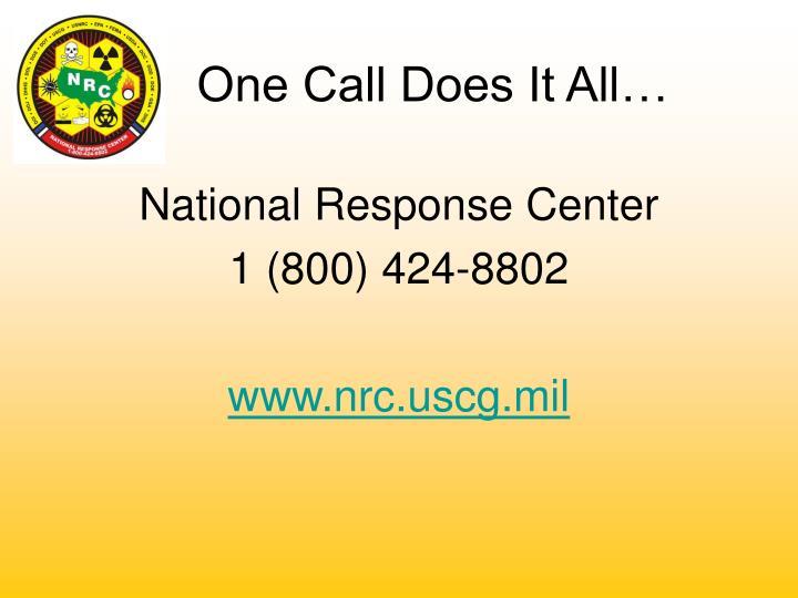 National Response Center