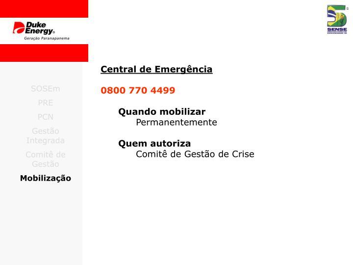 Central de Emergência