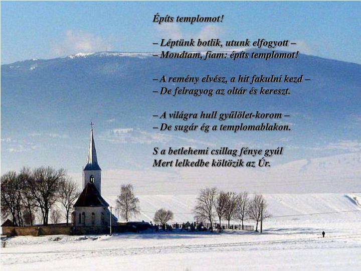 Építs templomot!