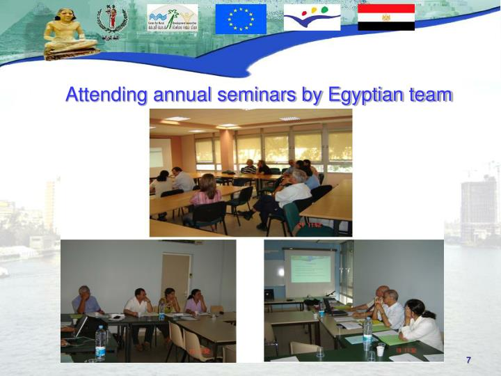 Attending annual seminars by Egyptian team