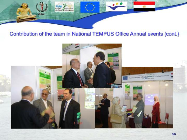 Contribution of the team in National TEMPUS Office Annual events (cont.)
