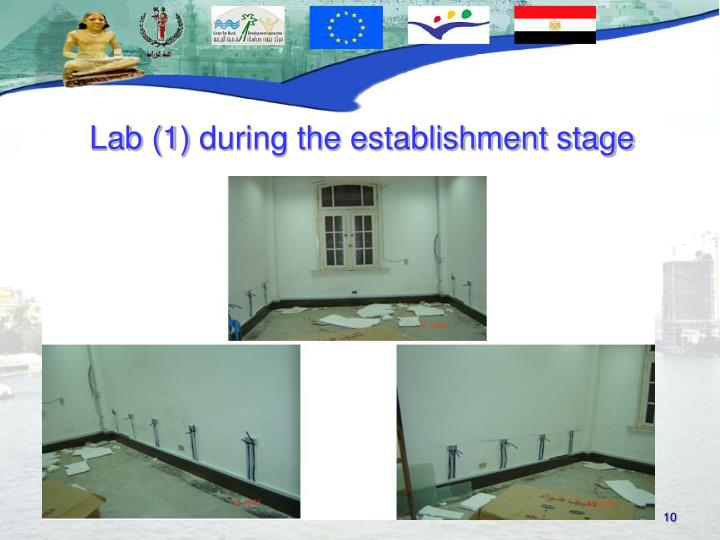 Lab (1) during the establishment stage