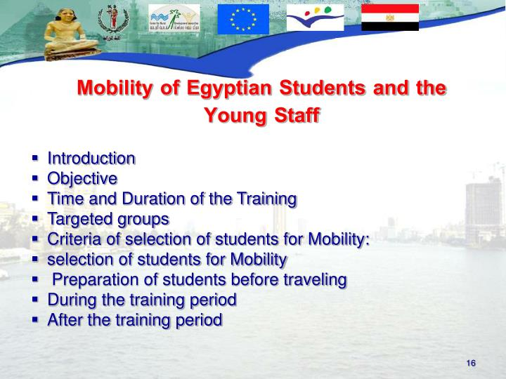 Mobility of Egyptian Students and the Young Staff