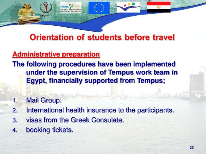 Administrative preparation