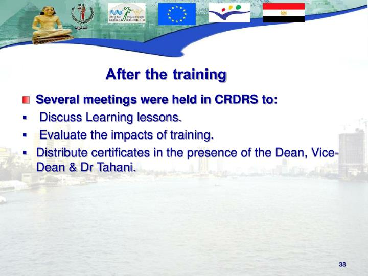 Several meetings were held in CRDRS to: