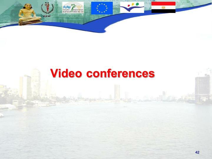 Video conferences